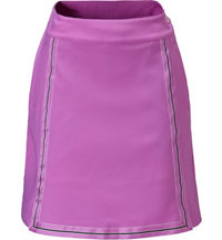 Women's Ribbon Framed Woved Skort