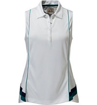 Women's Panel Sleeveless Polo