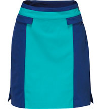 Women's Color Block Woven Skort
