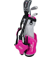 Junior UL39 3 Piece Full Set - Pink/Silver