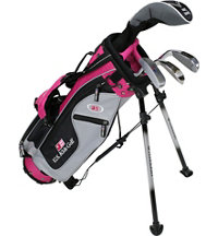 Junior UL42 4 Piece Full Set - Silver/Pink