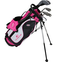 Junior UL51 5 Piece Full Set - Black/White/Pink