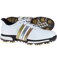 Men's Tour360 Boost USA Edition Spiked Golf Shoes - White/Gold Metallic/Core Black