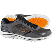 Men's Go Walk 2 Lynx Ballistic Spikeless Golf Shoes - Charcoal/Orange (#53549-CCOR)