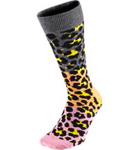 Women's Block Leopard Crew Socks
