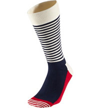 Men's Half Stripe Crew Socks