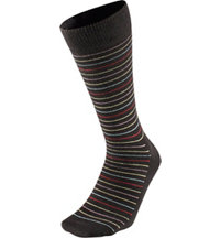 Men's Thin Stripe Crew Socks