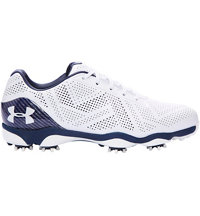 Men's UA Drive One Spiked Golf Shoes - White/Academy
