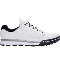 Men's UA Tempo Hybrid Spikeless Golf Shoes - White/Black
