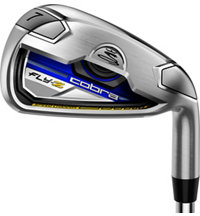 Fly-Z 4-PW,AW Blue Iron Set with Steel Shafts