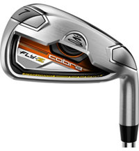 Fly-Z 4-PW,AW Orange Iron Set with Steel Shafts