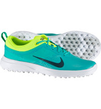 Women's Akamai Spikeless Golf Shoes - Clear Jade/Volt/White/Midnight Turquiose