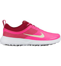 Women's Akamai Spikeless Golf Shoes - Pink Blast/Noble Red/White/Volt