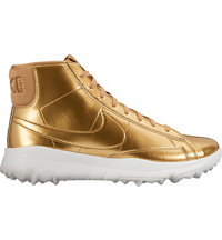 Women's Blazer Spikeless Golf Shoes - Metallic Gold/Summit White
