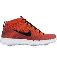 Men's Flyknit Chukka Spikeless Golf Shoes - Crimson/Black/University Red