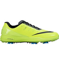 Men's Lunar Control IV Spiked Golf Shoes - Volt/Photo Blue/Black