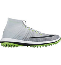 Men's Flyknit Elite Spikeless Golf Shoes - Pure Platinum/Black/Cool Gray/Volt/Black