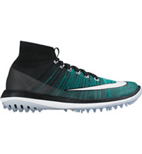 Men's Flyknit Elite Spikeless Golf Shoes - Black/Clear Jade/Glacier Blue/White