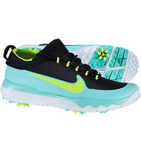 Men's FI Premier Spiked Golf Shoes - Black/Hyoer Turquoise/Volt