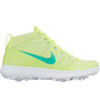 Women's FI Flyknit Chukka Spikeless Golf Shoes - Volt/Clear Jade/White/Liquid Lime