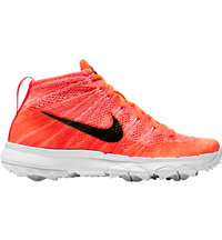 Women's FI Flyknit Chukka Spikeless Golf Shoes -Crimson/Black/Pink Blast/White