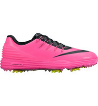 Women's Lunar Control IV Spiked Golf Shoes - Pink Blast/Black/Volt