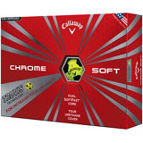 Chrome Soft Yellow Golf Balls with Truvis Technology