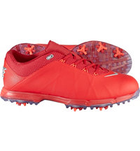 Men's Lunar Fire Spiked Golf Shoes - University Red/Metallic Silver