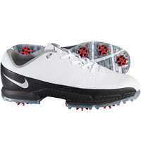 Men's Air Zoom Attack Spiked Golf Shoes - White/Metallic Silver/Black/Red