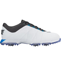 Men's Lunar Fire Spiked Golf Shoes - White/Anthracite/Photo Blue