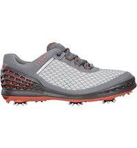 Men's Cage EVO Spiked Golf Shoes - Concrete/Wild Dove/Coral Blush