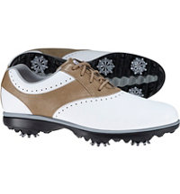 Women's Emerge Spiked Golf Shoe - White/Taupe (#93914)