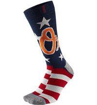 Men's MLB Memorial Day Brigade Orioles Socks