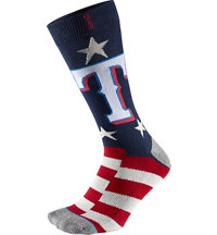 Men's MLB Memorial Day Brigade Rangers Socks