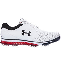 Men's Tempo Tour Spike Golf Shoes - White/Black/Red