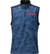 Men's USA Quarter Zip Wind Vest