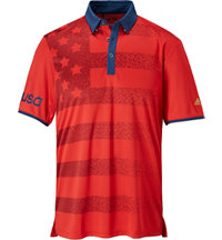 Men's climacool USA Flag Short Sleeve Polo