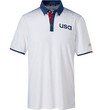 Men's climachill USA Shoulder Print Short Sleeve Polo