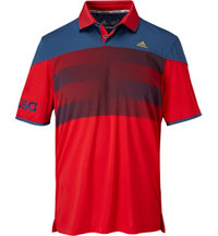 Men's climachill USA American Stripe Short Sleeve Polo