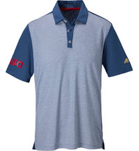 Men' climachill USA Heather Stripe Short Sleeve Polo