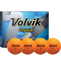 Crystal Orange Golf Balls