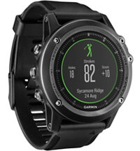 fenix 3 HR GPS Watch with Silicone Band