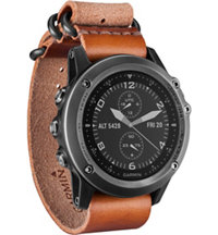 fenix 3 Sapphire GPS Watch with Leather Strap