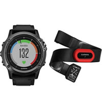fenix 3 HR GPS Watch Bundle with Black Silicone Band