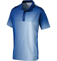 Men's Grid Fade Short Sleeve Polo