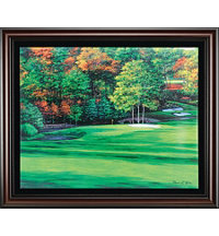Framed Canvas Art - Augusta 11th Hole