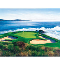 Unframed Canvas Art - Pebble Beach 7th Hole