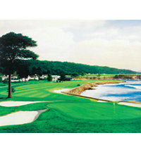 Unframed Canvas Art - Pebble Beach 18th Hole