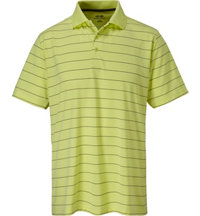 Men's Textured Stripe Short Sleeve Polo