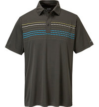 Men's Chest Multi Stripe Short Sleeve Polo